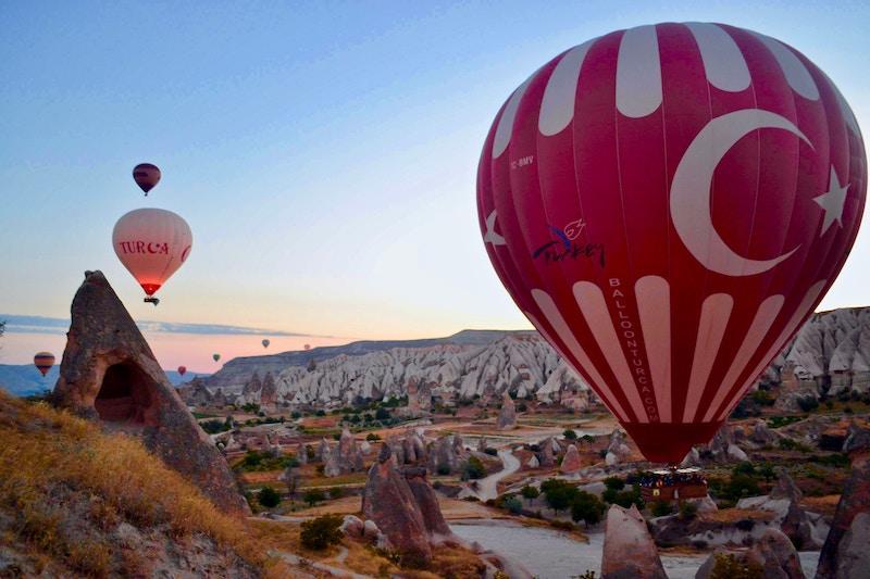 Montgolfières à Cappadoce